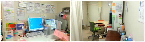MAデスクと診察室